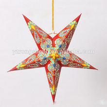 christmas decoration 5-point popular hanging paper star lanterns wholesale