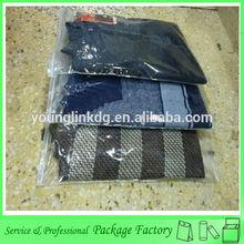 Zipper slider clear shopping plastic packaging bags for garment