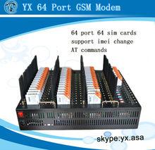 wireless networking equipment 64 port sms modem,64 port usb hub gsm modem pool,multi sim card modem 64 channel 64 sim