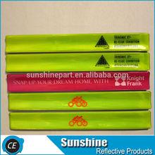 Reflective PVC promotional slap bracelet