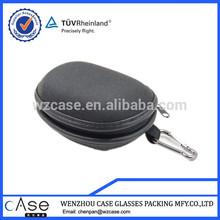 WZ mini foldable eva eyeglasses case with leather overlap H63