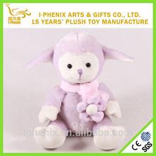 2015 Fashional mascot cute shape plush purple sheep new plush toy sheep wholesale