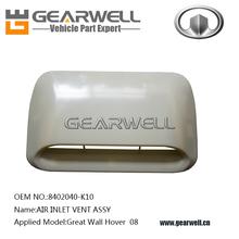 Partes de automóviles de la gran muralla hover de entrada de aire de ventilación assy( oem no.: 8402040- k10)