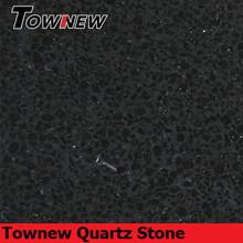 Building essential material sparkling black artificial quartz stone tiles