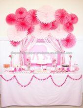 Pink Hanging Tissue Paper Fans DIY backdrop tissue paper fans Baby Shower Party Ideas Hanging Birthday Wedding Decoration