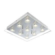 silver color 9-bulb LED Ceiling Light