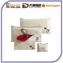 fashion wholesale Linen Cosmetic Bags