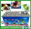 High quality fried ice cream machine with 6 fruit barrels