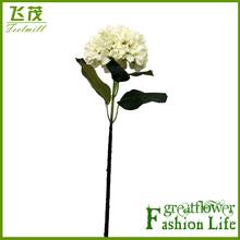 FM02H101 Artificial PU Single Hydrangea flower real touch lifelike fake flower