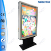 scrolling aluminum new design free standing led light box
