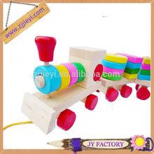 kids education toy wooden shape building block toy train