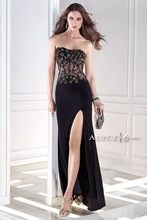 2015 Fashion Design Sweetheart Sleeveless Black Crystal Spandex Fabric B'Dazzle prom dress 35675 Bridal Dress