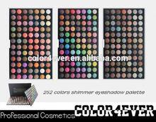 Pro Wholesale 252 colors shimmer matte netrual eyeshadow Makeup Eyeshadow Palette yellow eye shadow