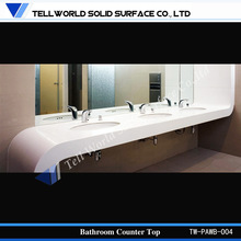 2014 Hot sale modern design luxury pure acrylic wash basin, counter top commercial furniture