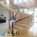 Curva, Forma plana y estructura sólida barandilla de vidrio sistema