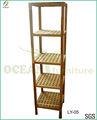 finitura in legno di noce oliato 5 tier design mensola di legno per la cucina