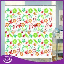 Printing Beautiful World 100%Polyester Fabric Shower Curtain