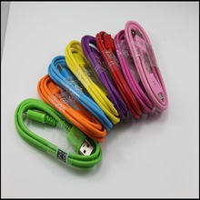 10 colors micro usb to AM cable for samsung galaxy s1 2 3,single micro usb data cable