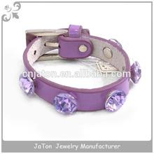 Wholesale Mala Beads Purple Crystal Gemstone Jewelry Charm Bracelet