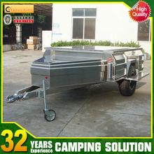 stainless steel custom camping trailer