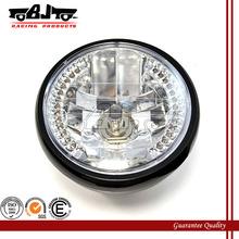 BJ-HL-008 High quality motocross amber round black 35W 26 LED led motorcycle headlight