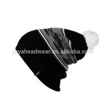 Winter jacquard beanie sports caps striped beanie men hats casual knitted beanie hats