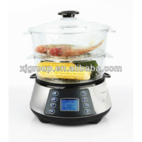 Stainless steel electric 3-layer food steamer with 11.5L capacity XJ-7K118
