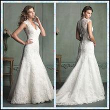 2015 New Designer A Line Long Train Suzhou Wedding Dress