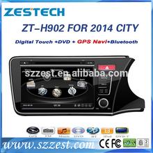 ZESTECH Car DVD Gps Navigation system for Honda City 2014 Car DVD Gps Navigation system with GPS, buletooth,RDS,3G +factory