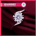 أحدث تصميم خاتم الماس سوليتير خاتم الماس 925 1 قيراط الفضة مطلي خاتم الزواج المجوهرات