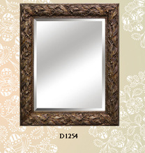 Wood Painted Decorative Framed Beveled Mirror with MDF Backboard