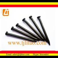 black color hardened steel concrete nails