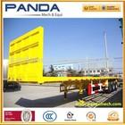 Competitive price 2-axle flatbed container semi trailer/tri-axle cargo trailer/heavy duty horse trailer