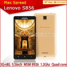 Original new arival lenovo s856 4g lte fdd phone android 4.4 8MP camera smart phone