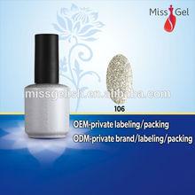 Miss Gel winter fashion nail art resin decorated high quality uv gel nail polish