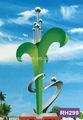 Abstraite vert moderne sculpture en métal