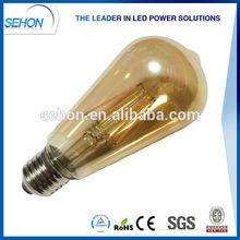filament led ST64 yellow glass cover/e27 led filament bulb light 2000k-6500k/gold led light ST64