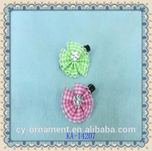 Fashion fabric flower hair alligator clips for little girls