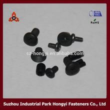 Alta calidad de acero al carbono negro tornillos pequeños tornillos en miniatura para la correa de la hebilla DIN