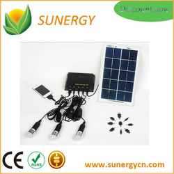 6W 5V portable led Solar power kit with over-charge and over-discharge protection function