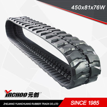 mini excavator rubber tracks used(450*81*76)