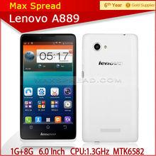 "dual sim 100% original Lenovo A889 Quad Core MTK6582 Android 4.2 Mobile 6.0"" 1GB RAM 8GB ROM 8MP 3G dual sim card handphone"