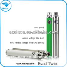 New arrival evod twist battery evod e-cigarete ego vaporizer pen accept oem e cig wholesale suppliers