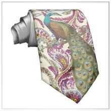 Customized Respberry Paisley Painting Digital printing Top Quality Men's Silk Satin Tie/Necktie