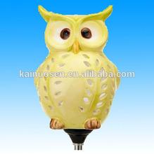 Cerámica Owl Solar jardín decoración luz Solar Powered búho