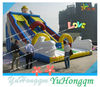china top quality cartoon giant commercial inflatable slide for adults and kids for sale