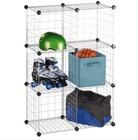 6 Storage Cubes, Stacking Wire Cube Set Closet Organizer Bins Bask (FH-ALW0023)