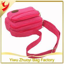 2014 New Canvas Fashion Leisure Female Interlayer Shoulder Bag, Messenger Bag with Little Dots