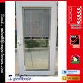 precio barato de alta calidad as2208 as2047 estándar de aluminio exterior de la puerta inserta persianas de vidrio