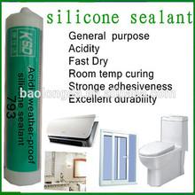 glass aluminium chemical acetic silicone sealant, china silicone sealant supplier, clear silicone sealant